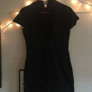 Black H&M dress with pockets and buttons